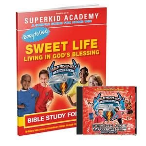 SKA Home Bible Study for Kids - The Sweet Life - Living in The Blessing Curriculum Workbook and Music CD