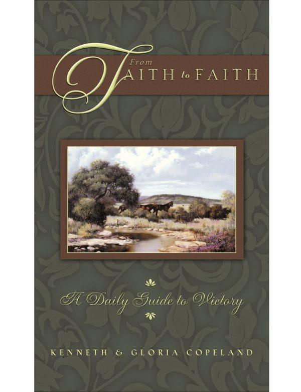 From Faith to Faith Green Male Cover Hardback Daily Devotional