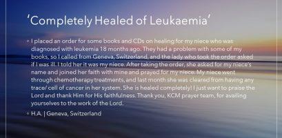 Completely Healed of Leukaemia