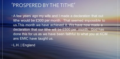 Prospered By The Tithe testimony image link
