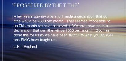 Prospered By The Tithe testimony image link