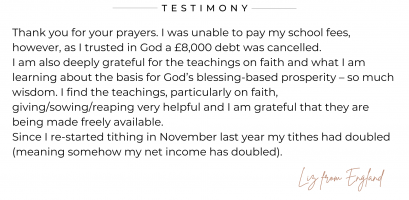 Liz from England shares how her school fees have been cancelled.