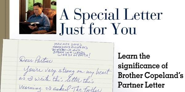 Kenneth Copeland Partner Letter